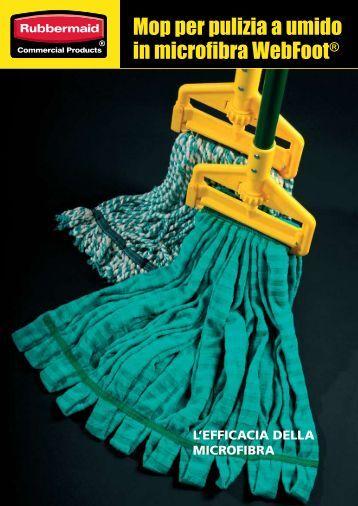 Mop per pulizia a umido in microfibra WebFoot® - Gruppo SDS