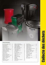 Collecte des déchets - Rubbermaid Commercial Products