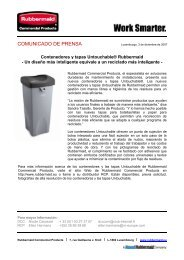 Contenedores y tapas Untouchable - Rubbermaid Commercial ...