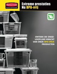 Extreme prestaties Nu BPA-vrij - Rubbermaid Commercial Products