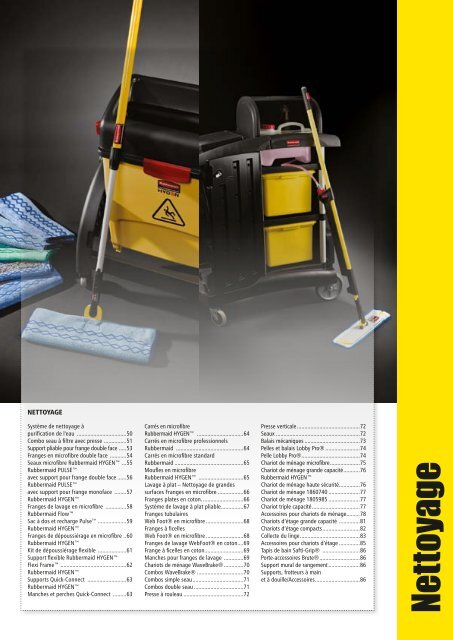 Nettoyage - Rubbermaid Commercial Products