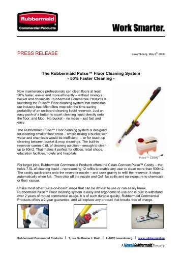The Rubbermaid Pulse Floor Cleaning System