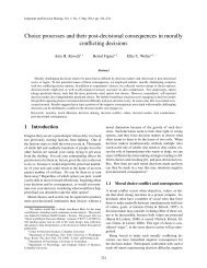 Choice processes and their post-decisional consequences in ...
