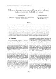 Reference-dependent preferences and loss aversion: A discrete ...