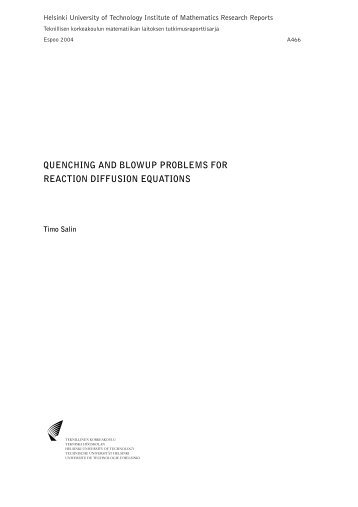 quenching and blowup problems for reaction diffusion equations