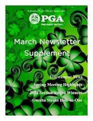 March Supplement 2013 - Nebraska PGA