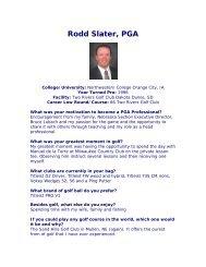 Rodd Slater, PGA - Nebraska PGA
