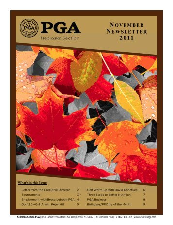 NOVEMBER NEWSLETTER - Nebraska PGA