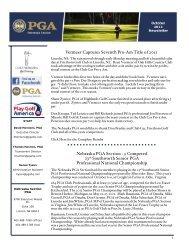 Vermeer Captures Seventh Pro-Am Title of 2011 Nebraska PGA ...