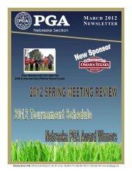 MARCH 2012 NEWSLETTER - Nebraska PGA