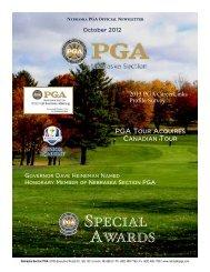 October 2012 - Nebraska PGA
