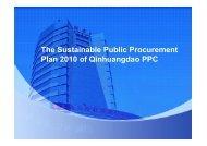 plan of Public Procurement of QHD ppc - Sustainable Public ...