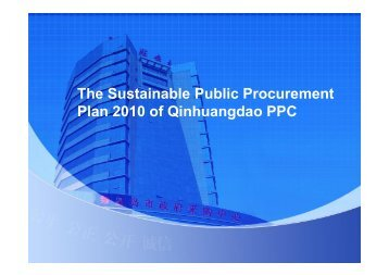 plan of Public Procurement of QHD ppc - Sustainable Public ...