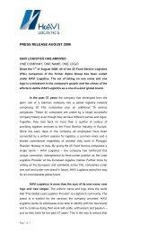 Press Release - Media – HAVI Logistics