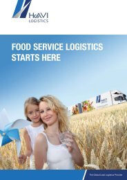 FOOD SERVICE LOGISTICS STARTS HERE - Media Center - HAVI ...