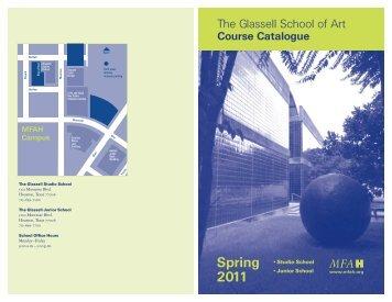 Studio School SPRING 2011 Course Catalogue - MFAH/Support ...