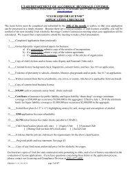 Club License - Utah Department of Alcoholic Beverage Control ...
