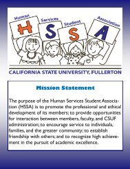 Mission Statement - College of Health and Human Development