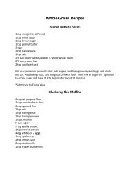 Whole Grains Recipes – Peanut Butter Cookies