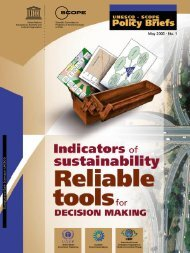 Indicators of sustainability: Reliable tools for decision making