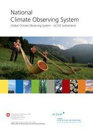 National Climate Observing System Klima ... - OcCC - SCNAT