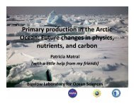 Primary production in the Arctic Ocean: Future changes in physics ...