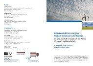 Klimawandel im Aargau: Folgen, Chancen und ... - OcCC - SCNAT