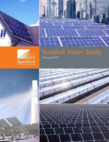 SunShot Vision Study - EERE - U.S. Department of Energy