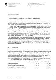 Faktenblatt zu CO2-Leistungen von Wald und Holz bis 2020