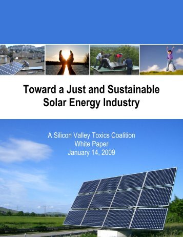 Toward a Just and Sustainable Solar Energy Industry
