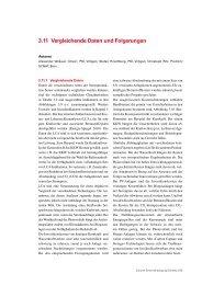 3.11 Vergleichende Daten und Folgerungen - SCNAT