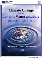 Climate Change and the European Water Dimension
