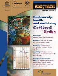 Biodiversity, health and well-being: critical links ... - unesdoc - Unesco