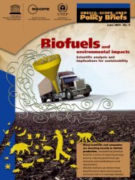 Biofuels and environmental impacts - Scientific Committee on ...