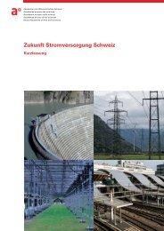 Zukunft Stromversorgung Schweiz - OcCC - SCNAT