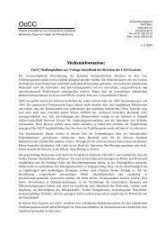 Diskussion - OcCC - SCNAT