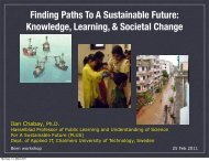 Knowledge, Learning, & Societal Change