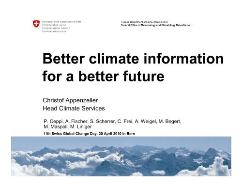 Better climate information for a better future - OcCC