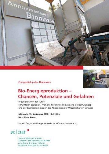 BioDEnergieproduktion = Chancen, Potenziale und ... - SCNAT
