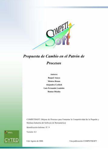 Propuesta de Cambio en el Patrón de Procesos - Grupo Alarcos
