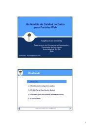 Un Modelo de Calidad de Datos para Portales Web - Grupo Alarcos