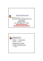 Data Warehouses Introducción - Grupo Alarcos