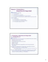 Tema 6. Protocolos y Esquemas de Seguridad