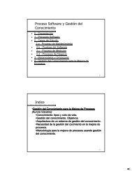 Proceso Software y Gestión del Conocimiento Indice