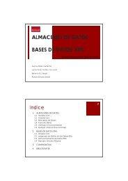 ALMACENES DE DATOS BASES DE DATOS XML - Grupo Alarcos