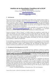 Análisis de los Resultados Científicos de la UCLM - Grupo Alarcos ...