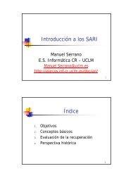 Introducción a los SARI - Grupo Alarcos
