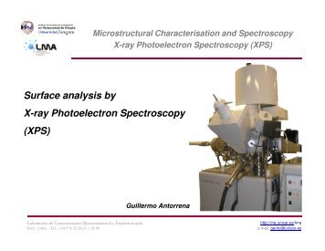Surface analysis by X-ray Photoelectron Spectroscopy (XPS ... - INA