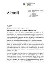 Pressemitteilung des BMBF zum Projektstart - DFKI