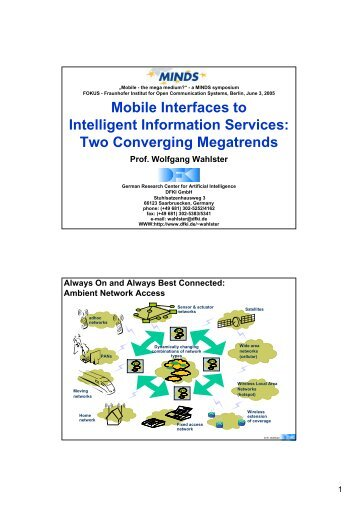 Mobile Interfaces to Intelligent Information Services - SmartWeb ...